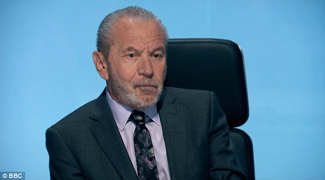 Not impressed:Lord Alan Sugar stuck to his word on Thursday's latest episode of The Apprentice, with a dramatic double sacking