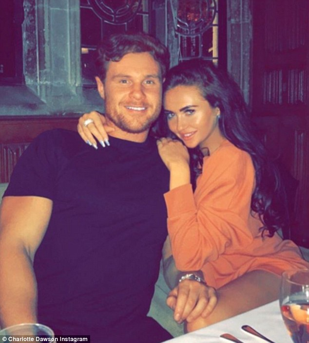 Loved-up:While Jemma is returning to single life however, gal pal Charlotte has done the opposite - and found love with rugby player Matt Sarsfield (above)