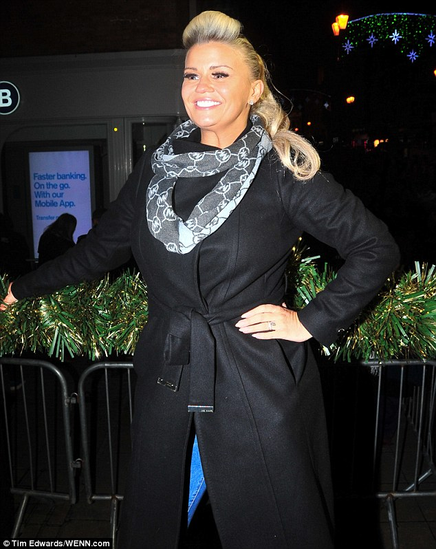 Have yourself a Kerry Christmas! Ms Katona, 36,was given the honours of turning on the Christmas lights in Lincoln on Thursday night