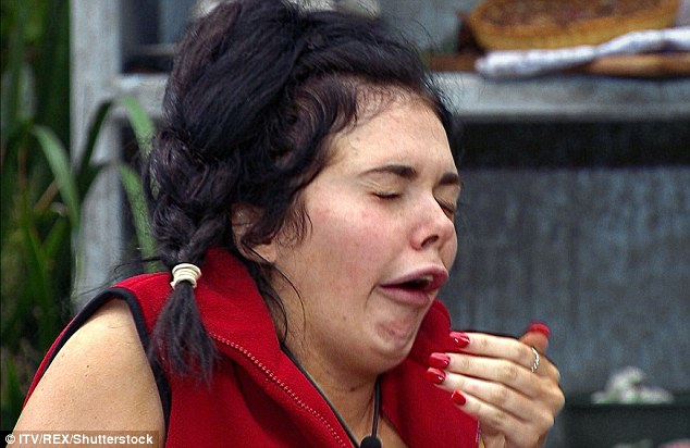 Revolting: Scarlett gagged her way through the meal challenge