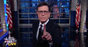 Late Show host Stephen Colbert -- (screen grab)