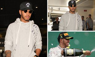 Lewis Hamilton heads to LA as Formula One star continues jet-setting lifestyle ahead of