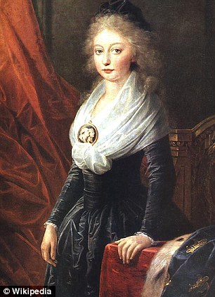Princess Marie Thérèse, pictured around the time she left France