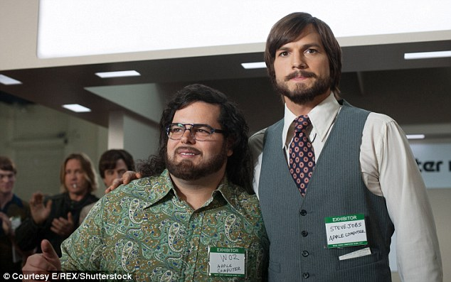 New role: Fans might be used to seeing him on the big screen (pictured here in Steve Jobs biopic Jobs)