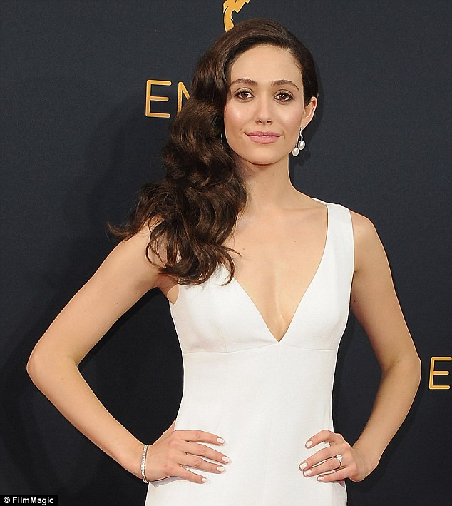 Speaking out: Emmy, 30, supported Hillary Clinton's bid for the presidency and is engaged to Arab-American screenwriter and producer Sam Esmail, creator of hit show Mr. Robot
