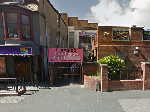 Scene: The 26-year-old performer had been heading to the Flamingo nightclub in Blackpool (pictured) with co-stars Neil Jones and Aljaz Skorjanec when he was attacked