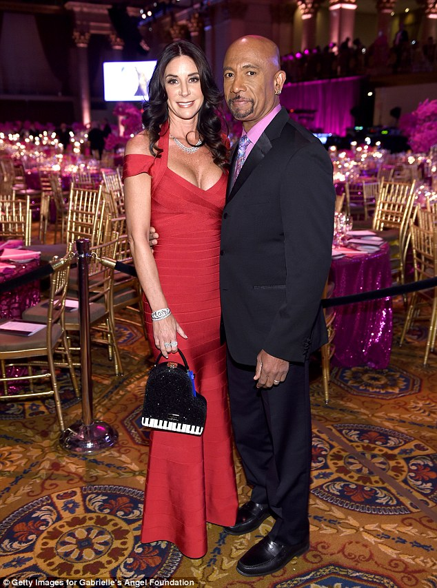 Red hot! Former talk show host Montel Williams, 60, attended the benefit with his wifeTara Fowler who stunned in a crimson bandage dress