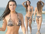 Ex On The Beach newcomer Jenny Thompson spotted on Kite Beach in Dubai.\n\n(EXCLUSIVE ALL ROUND)
