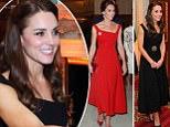 Kate Middleton Duchess of Cambridge red dress