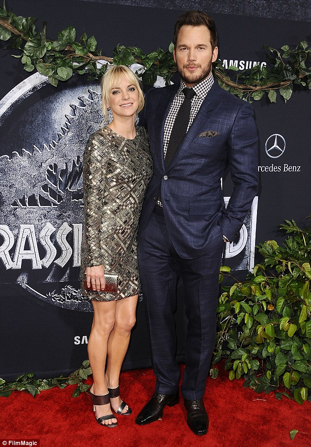 A-list couple: Anna is married to Chris Pratt - pictured in June 2015
