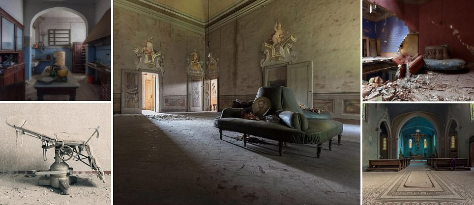 From a decaying psychiatric ward to a neglected castle: The haunting beauty of Italy's