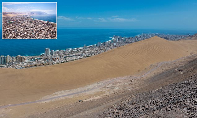 You're going to need a bigger bucket and spade! The monster 1,500ft-tall sand dune called