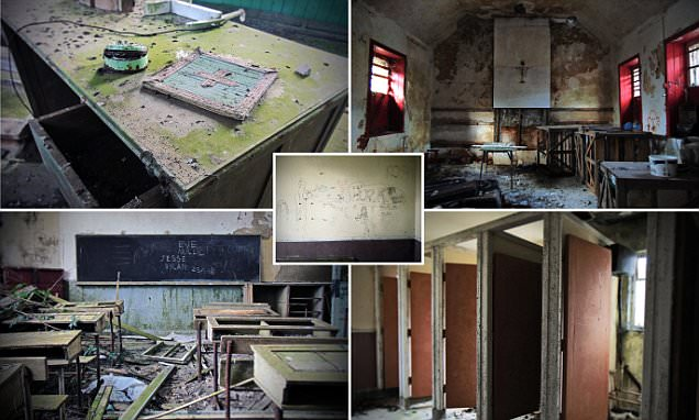 Enda O Flaherty's eerie photos of Ireland's abandoned schools reveal rotting desks,