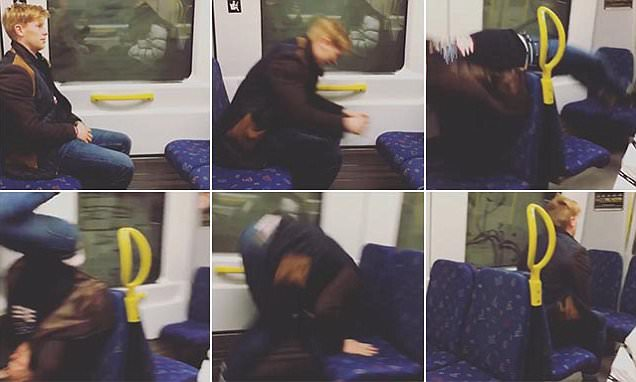 Swedish train passenger performs an amazing acrobatic flip to move rows