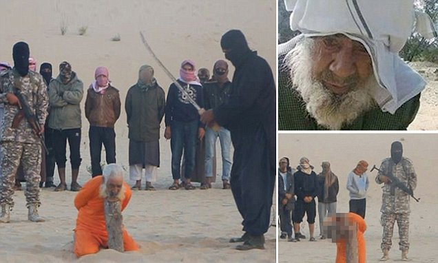 ISIS behead elderly cleric for 'practising witchcraft' in Egypt's Sinai Peninsula