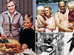 Mary Berry - photoshoot for one of her first cookery book with helpers Annabel and William.