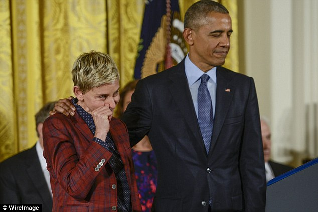 She needs a Kleenex folks: The pet lover then tried to wipe her tears away