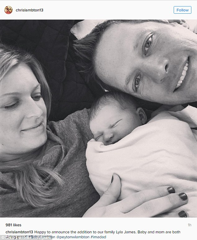 Happy news! Bachelor stars Chris and Peyton Lambton announced the arrival of their daughter Lyla on Tuesday