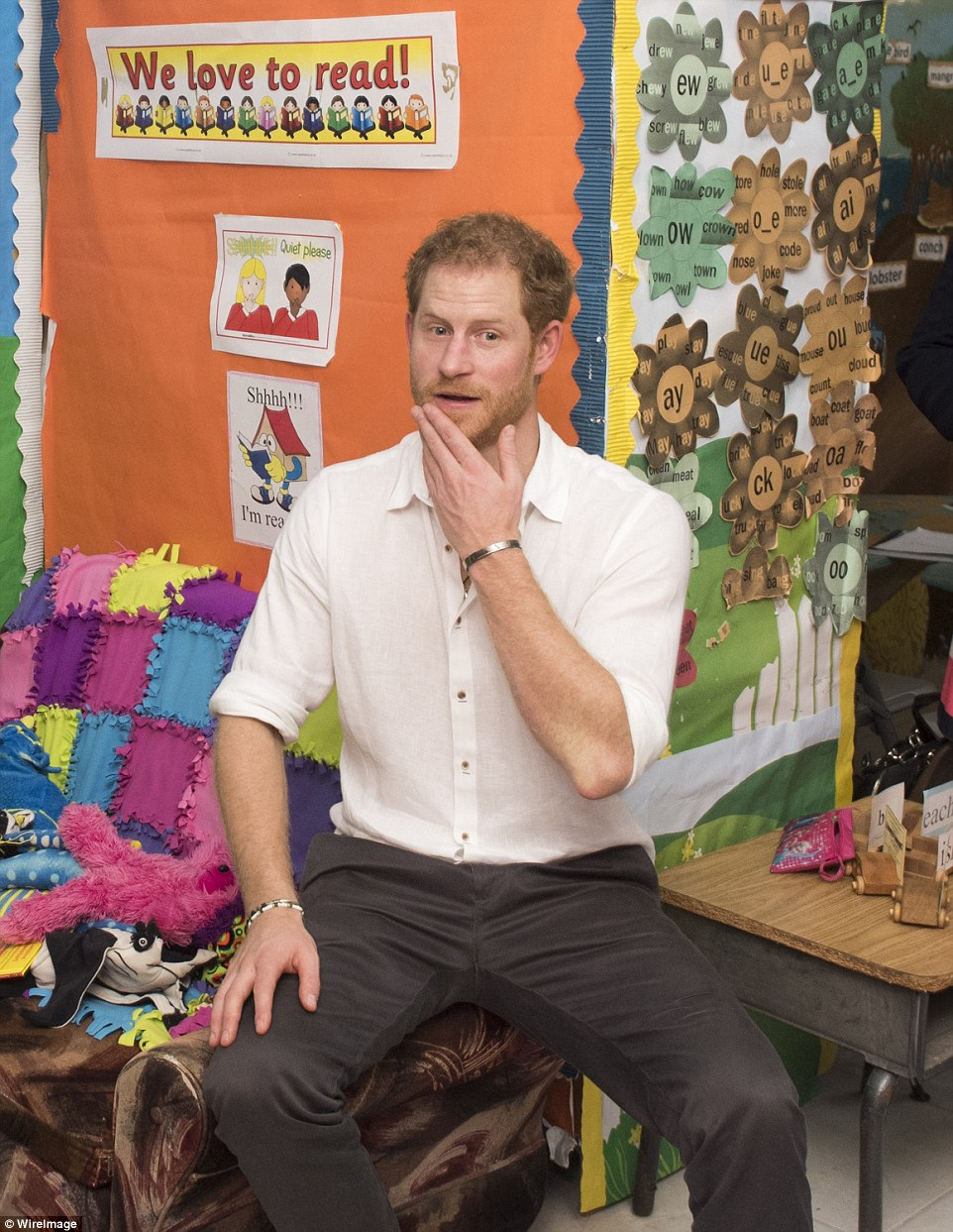 Prince Harry also visited Holy Trinity Primary School today as part of his official tour of the Caribbean