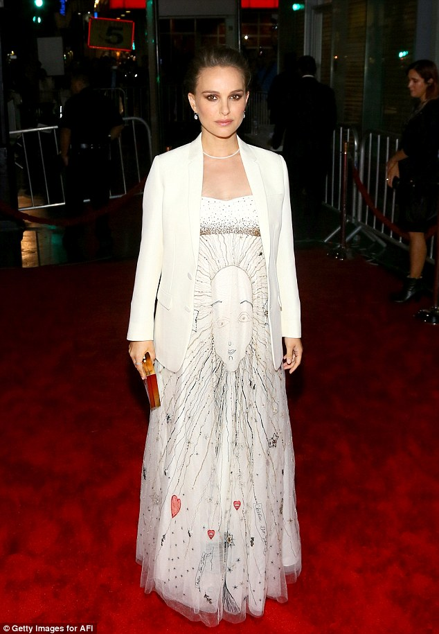 Props: Jackie star Natalie Portman was nominated in the Best Female Lead category. Here she is seen on November 14