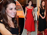 Kate Middleton Duchess of Cambridge red dress