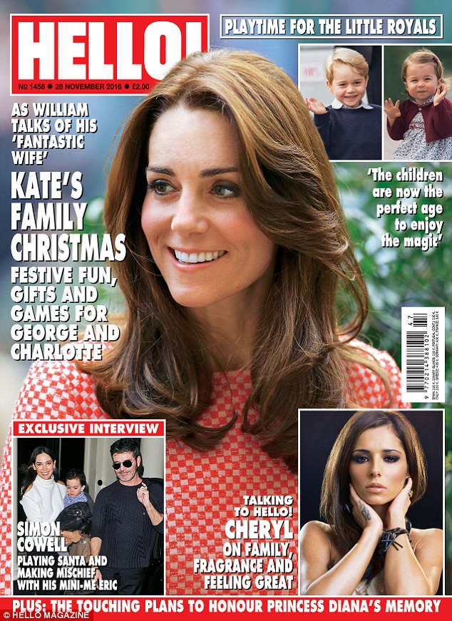 Read all about it: Cheryl was speaking to the latest issue of Hello magazine