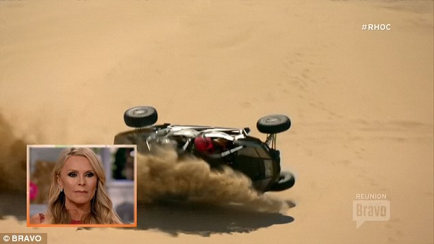 Bad accident: Tamra was behind the wheel of the accident in Glamis