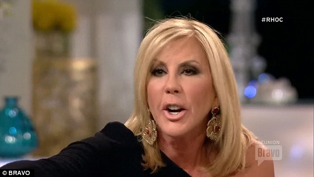 Gay rumours: Vicki also was accused of spreading rumours that Tamra's husband is gay