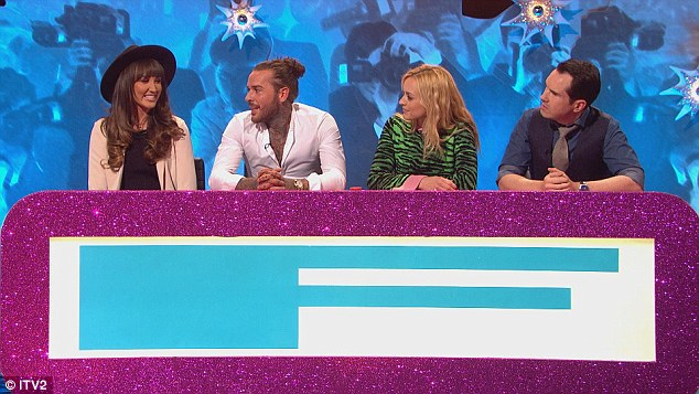 Long way to go: Making a joint appearance on Thursday evening's episode of Celebrity Juice, the reality TV personalities reveal they are still not together