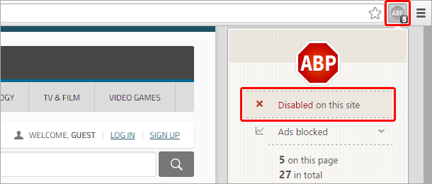 Disable AdBlock to view this page
