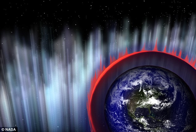 Over as quickly as it started: The moment the energy burst lit up Earth's atmosphere