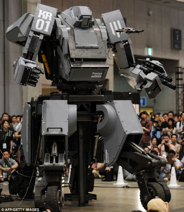 Transformers assemble: The 13ft, four ton, super-robot is going on sale for £900,000 - but you have to pay extra for the cup holder