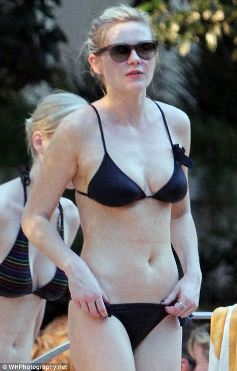Shunning a tan: Kirsten Dunst  showed off her milky-white skin in Los Angeles