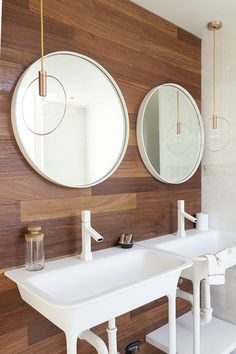 Love the white faucet look! Seamlessly blends into the sink and creates a stylish & simplified feel.  The New Bathroom: 5 Top Trends