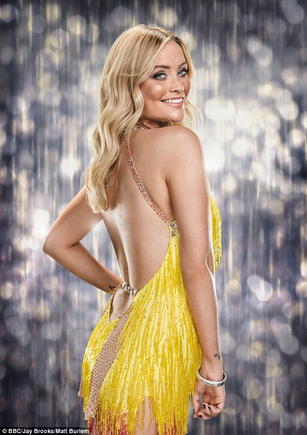 Haunted:She was forced to pull out of one of Strictly Come Dancing's live shows after sustaining an ankle injury and Laura Whitmore revealed she still feels guilty