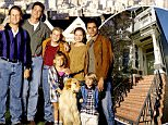 FULL HOUSE - On location in San Francisco - Season Eight - 9/27/94 Pictured, from left: Dave Coulier (Joey), Bob Saget (Danny), Jodie Sweetin (Stephanie), Mary Kate Olsen (Michelle), Candace Cameron (D.J.), Andrea Barber (Kimmy), Blake Tuomy-Wilhoit (Nicky), Lori Loughlin (Rebecca), Dylan Tuomy-Wilhoit (Alex), John Stamos (Jesse).  (Photo by Craig Sjodin/ABC via Getty Images)