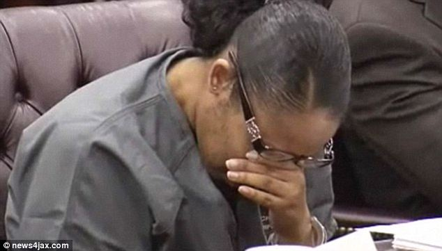 Disbelief: Marissa Alexander breaks down in court as she is sentenced to 20 years for firing a gun during a fight with her husband. She'll now get a second chance at freedom