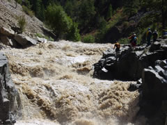 class VI rapid on the South Fork of the Payette