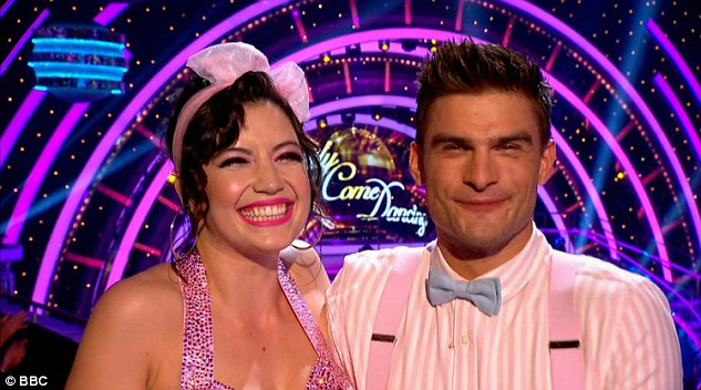 Fresh as a Daisy: Daisy andAljaz decked out in retro threads on Saturday's Strictly