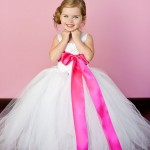 Casual Dresses White And Hot Pink Flower Girl Tutu Dresses flower girl dresses 2016 flowergirl dresses
