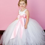 Casual Dresses White And Pink Flower Girl Tutu Dresses Tu Tu Dresses flower girl dresses 2016 flowergirl dresses