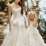 Casual Dresses Matching Flower Girl Dresses To Bridal Gowns light pink flower girl dresses