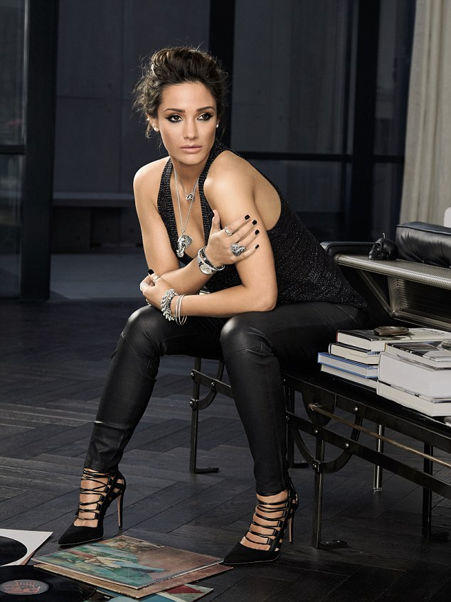 Hell for leather: Frankie Bridge sizzles in leather trousers and strappy heels in new pictures for the Autumn Winter collection for Thomas Sabo