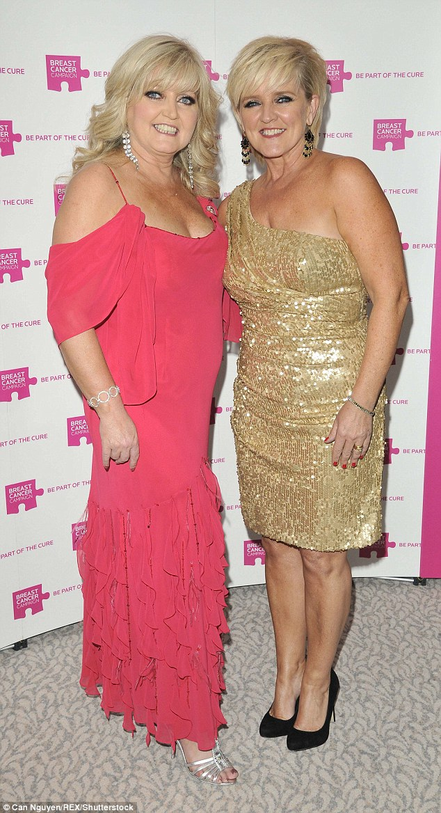 Pictured with her late sister in 2011 (left), she said she had left her a note which was read out at her funeral which said: 'Remember me with a smile... I want tears but not too many'