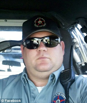Ousted:McIntosh County Sheriff's Deputy Brant Gaither (pictured) was terminated in July for swapping racist jokes with another Georgia law enforcement officer