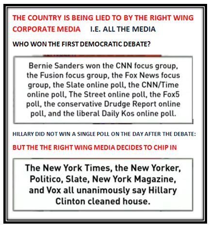 the country is being lied to by the right wing corporate media