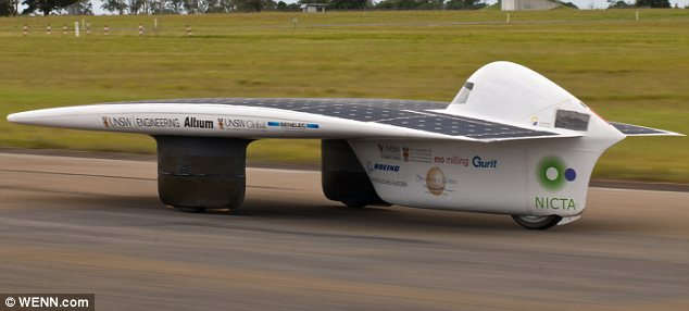 Toasted: Sunswift IVy which broke the solar-powered speed record in Nowra, New South Wales