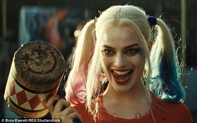 Award winner: Margot Robbie has won the Critics' Choice Award for Best Actress in an Action Movie for her role in Suicide Squad - despite the film being slammed by critics earlier this year