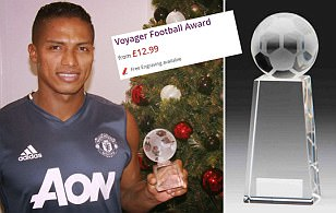 Have Manchester United handed Antonio Valencia a trophy worth £14.99?