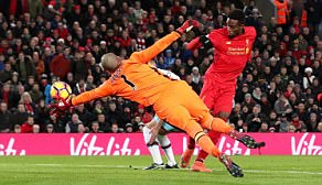 Belgium international Divock Origi (right) restored parity at 2-2 with an early strike in the second half